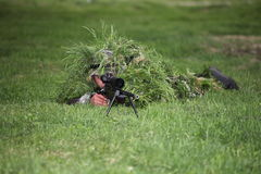 Camouflaged sniper Stock Photos