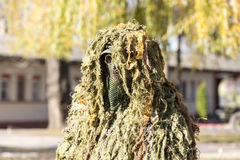 Camouflaged soldier Royalty Free Stock Photos