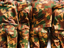 Camouflaged soldiers Stock Photo