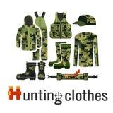 Camouflagekleren voor de jager royalty-vrije illustratie