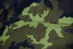 Camouflages. Fabric pattern texture  detail Royalty Free Stock Photo