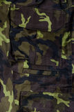 Camouflages. Military trousers pocket detail Stock Image