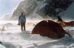 Camp élevé sur le Khan-Tengri Photos libres de droits
