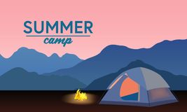 Camp1 royaltyfri illustrationer