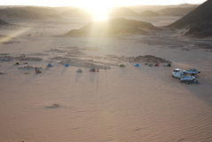 Camp. Tented camp in the desert of Tadrat Stock Images