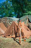 The camp. Photo taken during historic reconstruction in Krakow Royalty Free Stock Photos