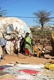 Camp for African refugees and displaced people on the outskirts of Hargeisa in Somaliland under UN auspices Royalty Free Stock Photos