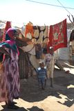 Camp for African refugees and displaced people on the outskirts of Hargeisa in Somaliland under UN auspices Stock Photo