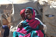 Camp for African refugees and displaced people on the outskirts of Hargeisa in Somaliland under UN auspices. Stock Image