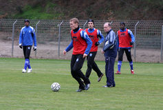 Camp AJ du football de formation d'Auxerre Images stock