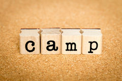 Camp - Alphabet Stamp Concepts Royalty Free Stock Photography