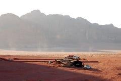 Camp bédouin en Wadi Rum, Jordanie Photos libres de droits