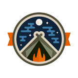 Camp badge Stock Photos