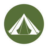Camp badge where the military rest Royalty Free Stock Photo