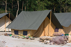 Camp on the banks of the Ganges River�. India. Stock Photos