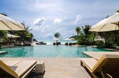 Free Camp Bed Under The Umbrella On Beach Phuket, Thailand Royalty Free Stock Image - 43851206
