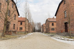 Camp Buildings at  Auschwitz 1 Stock Photo