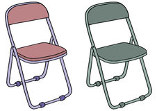 Camp chair. Drawing of two camp chairs Stock Photography