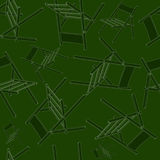 Camp chairs seamless pattern Stock Image