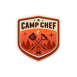 Camp chef badge royalty free illustration