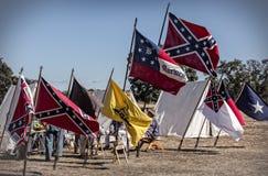 Camp confédéré image stock