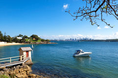 Camp Cove, Australia. Viewing from Camp Cove, Watsons Bay stock photography