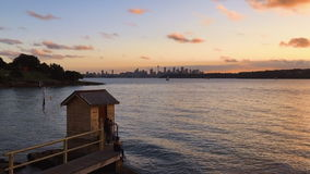 Camp Cove Sunset stock footage