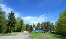 Camp d'enfants de montagne Images stock