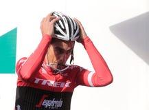 Camp d'entraînement d'équipe de voyage de Contador en Majorque image stock