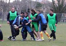 Camp d'entraînement d'USAP en Sain-Cyprien Images libres de droits