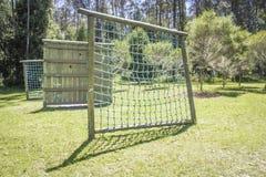 Camp d'entraînement militaire fait de bois Concept de sport image libre de droits