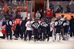 Camp d'entraînement ouvert d'Ottawa Senators après verrouillage de NHL Images libres de droits
