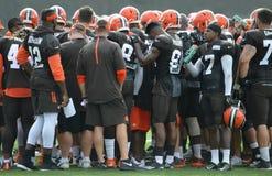 Camp d'entraînement de Cleveland Browns NFL 2016 Photo libre de droits