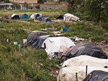 Camp d'Ilegals sur l'Italie Photo libre de droits