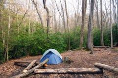 Camp dans la région sauvage Image stock