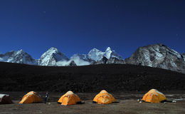 Camp de base d'Ama Dablam Image libre de droits