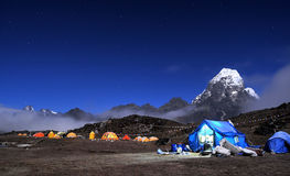 Camp de base d'Ama Dablam Photo libre de droits