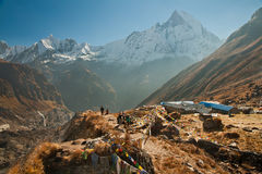 Camp de base d'Annapurna Photographie stock libre de droits