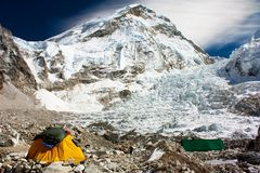 Camp de base d'Everest Image libre de droits