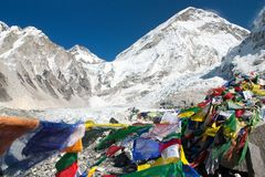 Camp de base d'Everest Image stock