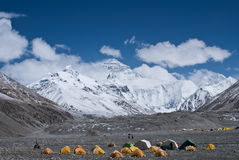 Camp de base d'everest de support Image libre de droits