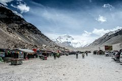 Camp de base d'Everest Visage du nord Photo libre de droits