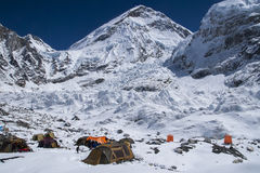 Camp de base d'Everest Visage du nord Image stock