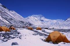 Camp de base de support Everest images libres de droits