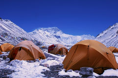 Camp de base de support Everest Photo libre de droits