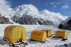 Camp de base du Kirghizistan - de Khan Tengri Images libres de droits
