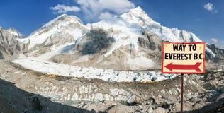 Camp de base du mont Everest, montagnes de l'Himalaya du Népal photo stock