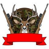 Camp de chasse de cerfs communs Images libres de droits