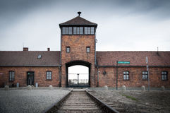 Camp de concentration d'Auschwitz Birkenau Photos libres de droits