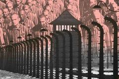 Camp de concentration d'Auschwitz - Pologne Photo libre de droits